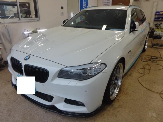 BMW523ツーリング白