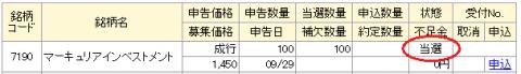 マネックス証券IPO当選とIPO抽選ルール