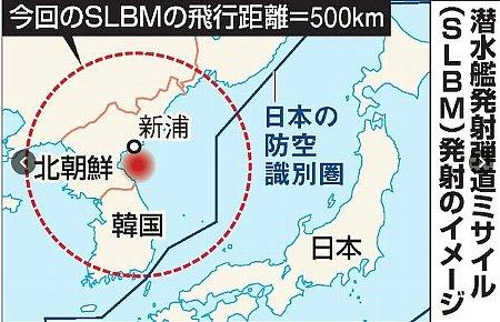 日韓への脅威が現実化北朝鮮の潜水艦ミサイル