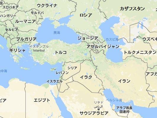 ロシアトルコイラン地図