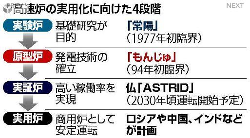 「もんじゅ」代替高速炉の工程表 年内策定へ 読売新聞
