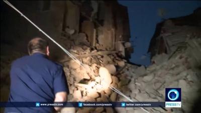 【衝撃!】イタリアでM6.3の地震発生・・・・・家屋が崩壊!直後の映像!