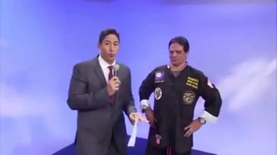 【笑える!】マーシャルアーツの達人を紹介する番組で前代未聞の放送事故!