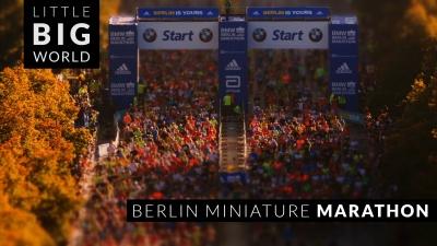 【スゴイ!】ミニチュアの世界みたいなベルリンマラソン!