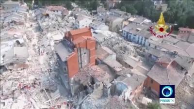 【衝撃!】イタリア地震で被害にあった町をドローンが飛んだ!