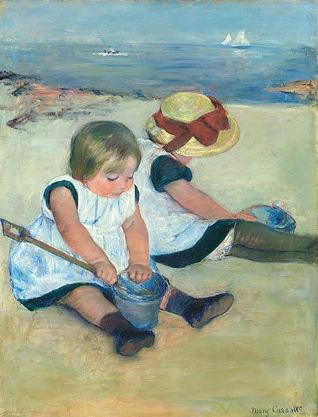 浜辺で遊ぶ子供たち 1884 16cm
