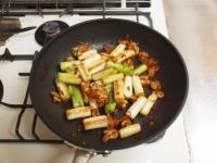 鶏皮と長ねぎのぴり辛炒めt43