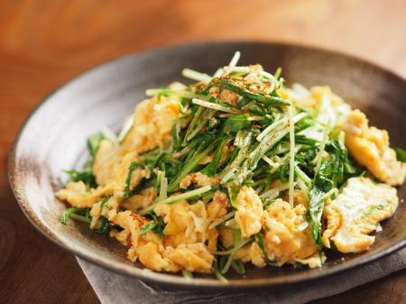 水菜の明太たまごとじt22