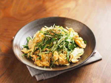 水菜の明太たまごとじt25