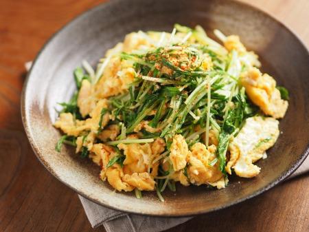 水菜の明太たまごとじt26