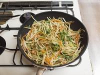 もやしと水菜のソース炒めt38
