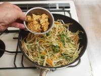 もやしと水菜のソース炒めt39