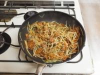 もやしと水菜のソース炒めt42