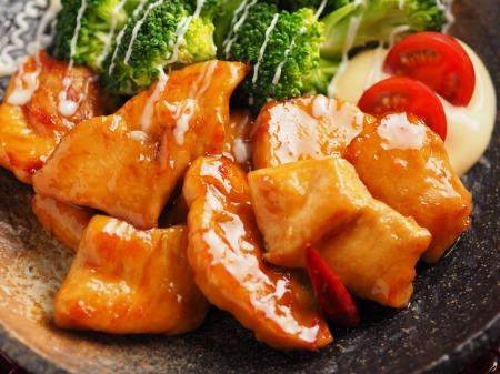 鶏むね肉のさっぱり甘酢炒めt22