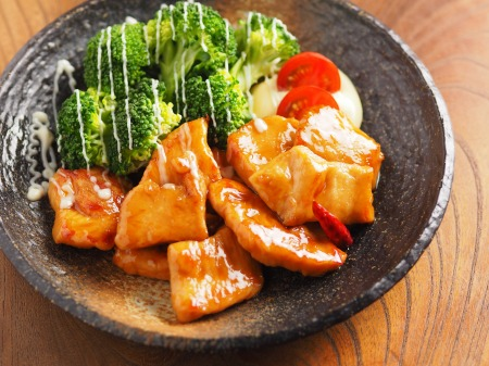 鶏むね肉のさっぱり甘酢炒めt29