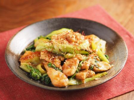 鶏むね肉と青梗菜の香味炒t26
