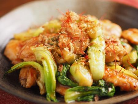 鶏むね肉と青梗菜の香味炒t36