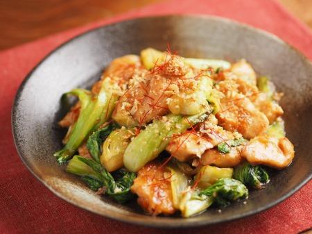 鶏むね肉と青梗菜の香味炒t29