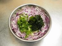 鶏むね肉水晶の海藻サラダ風t05