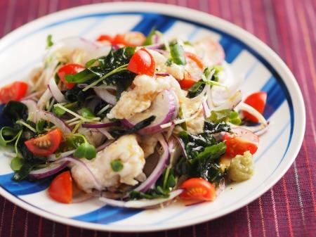 鶏むね肉水晶の海藻サラダ風t10