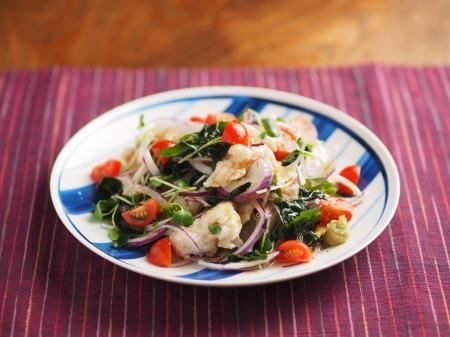 鶏むね肉水晶の海藻サラダ風t13