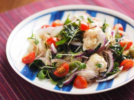 鶏むね肉水晶の海藻サラダ風t23