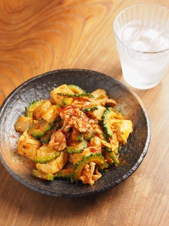 ゴーヤー豚キムチ炒めt37