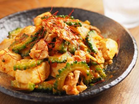 ゴーヤー豚キムチ炒めt40