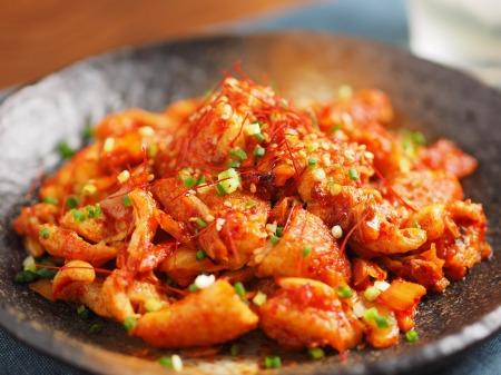鶏皮キムチ炒めt23