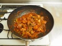 鶏肉のガリマヨトマト煮t25