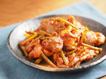 鶏肉のガリマヨトマト煮t34