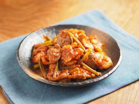 鶏肉のガリマヨトマト煮t38