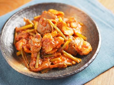 鶏肉のガリマヨトマト煮t41