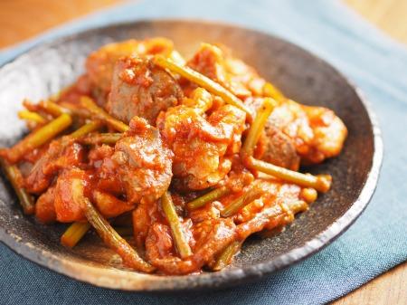 鶏肉のガリマヨトマト煮t28