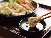 水晶鶏の刺身風甘酢茗荷39