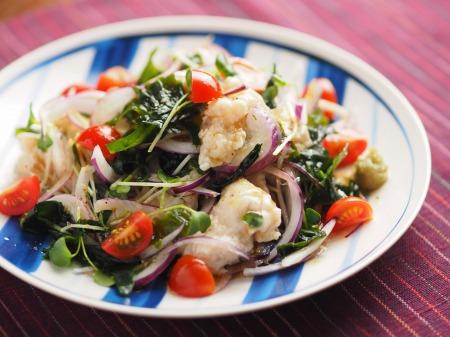 鶏むね肉水晶の海藻サラダ風t24