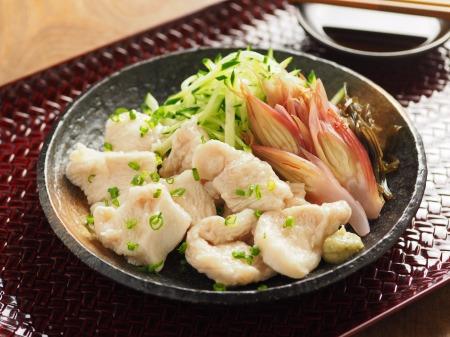 水晶鶏の刺身風甘酢茗荷20