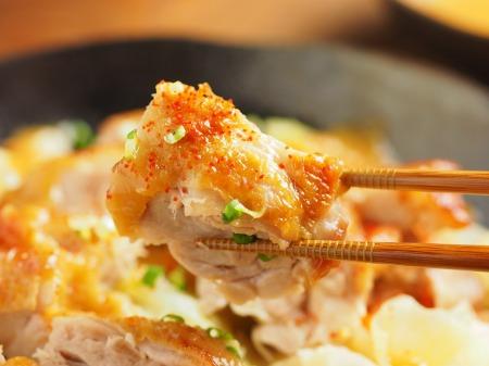 鶏もも肉とキャベツのフライパンt50