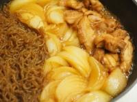 鶏ももと玉ねぎのすき焼き煮20