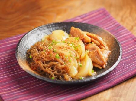 鶏ももと玉ねぎのすき焼き煮26