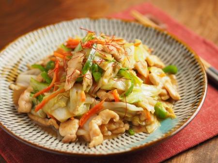 キャベツと鶏むね肉のピリ辛生30
