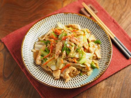 キャベツと鶏むね肉のピリ辛生31