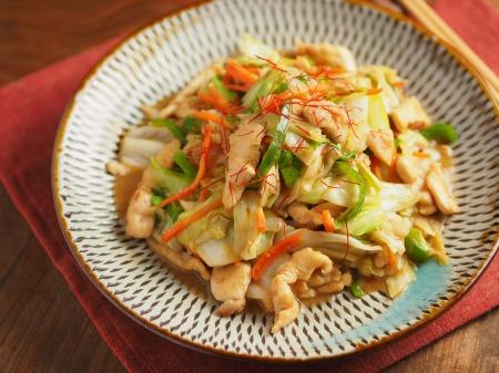 キャベツと鶏むね肉のピリ辛生34