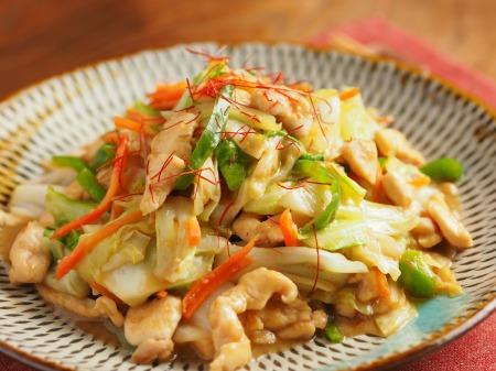 キャベツと鶏むね肉のピリ辛生22