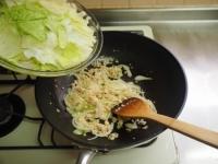 キャベツとひき肉のカレーマヨ炒13