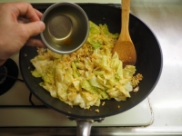 キャベツとひき肉のカレーマヨ炒21
