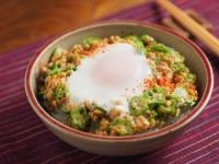 オクラ納豆の巣篭もり卵丼16