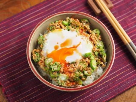 オクラ納豆の巣篭もり卵丼39