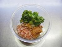 味噌味のオクラ納豆蕎麦14