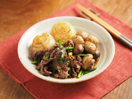 牛肉とマッシュルームのすき焼25
